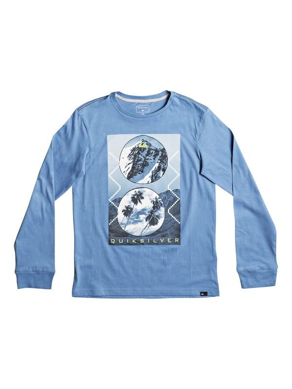 0 Carbon Finish Simply - Superweiches Langarmshirt Blau EQBZT03581 Quiksilver