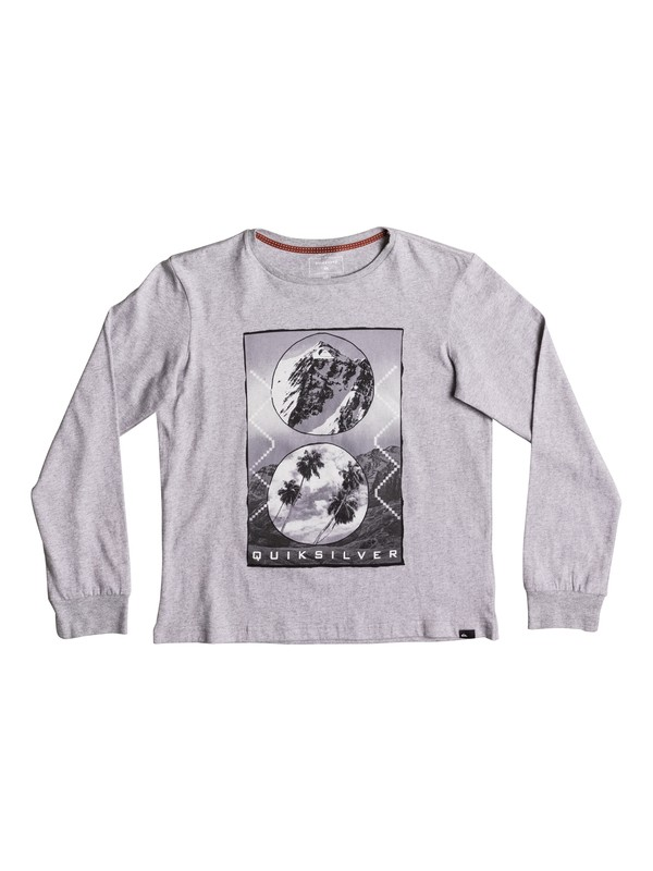0 Carbon Finish Simply - Super-Soft Long Sleeve T-Shirt Gray EQBZT03581 Quiksilver