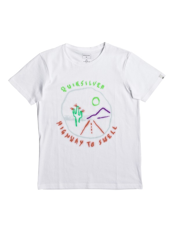 0 Highway To Swell - T-Shirt White EQBZT03590 Quiksilver