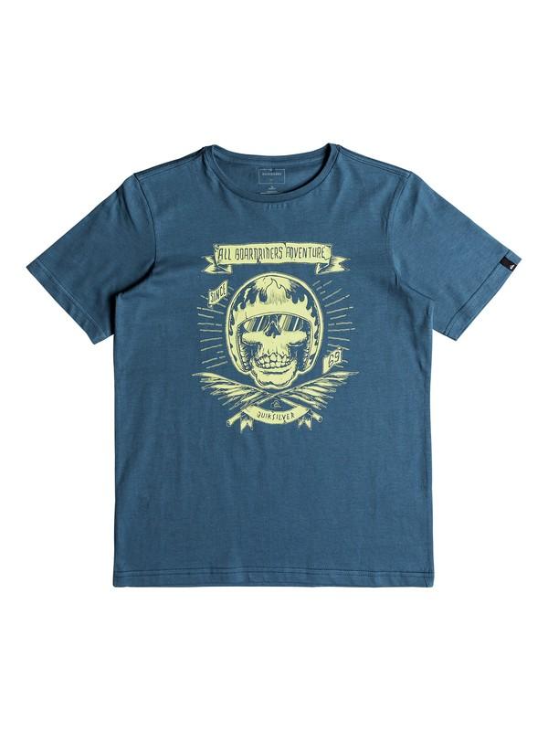 0 Classic Makau Ola - T Shirt col rond pour Garçon 8-16 ans Bleu EQBZT03671 Quiksilver