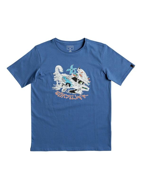0 Classic Days On - T Shirt col rond Bleu EQBZT03672 Quiksilver