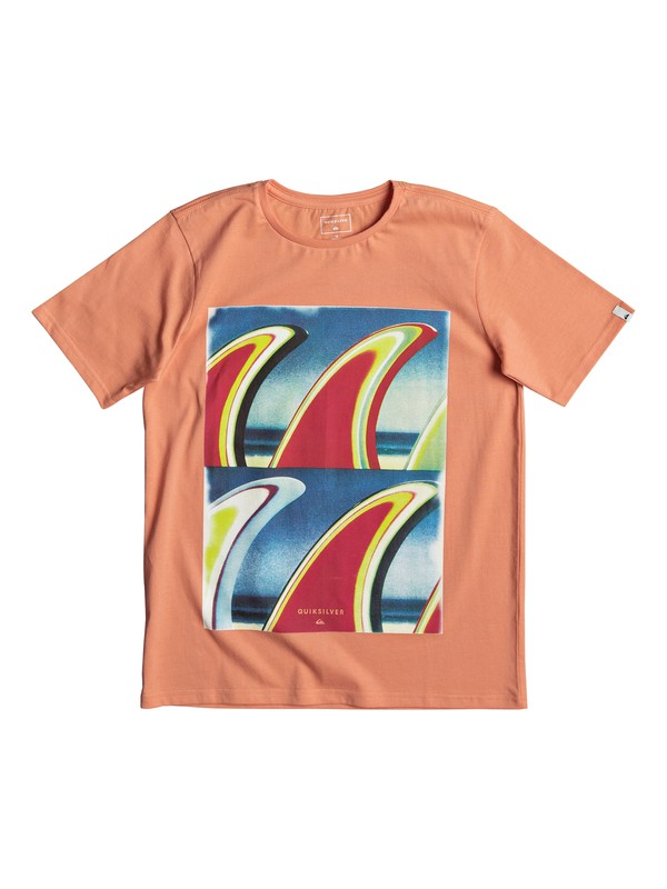 0 Classic Fin Fanatic - T-Shirt for Boys 8-16 Orange EQBZT03673 Quiksilver