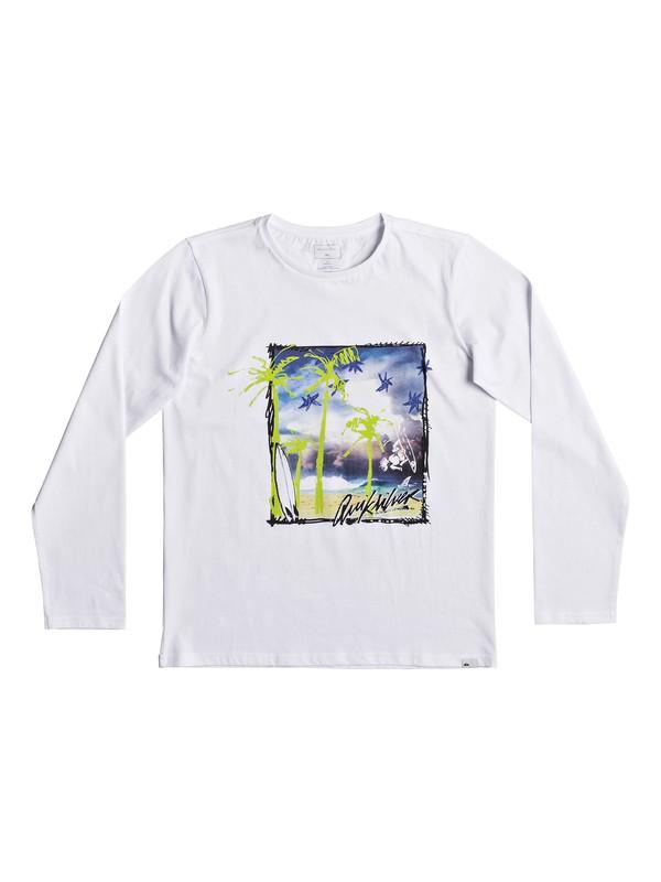 0 Classic Pihi Wiki - T shirt manches longues pour Garçon 8-16 ans Blanc EQBZT03685 Quiksilver