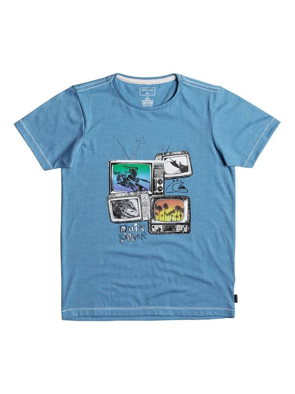 0 Heather Super TV - T-Shirt for Boys 8-16 Blue EQBZT03691 Quiksilver