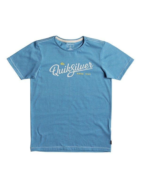 0 Heather Wavey Glaze - T-Shirt for Boys 8-16 Blue EQBZT03693 Quiksilver