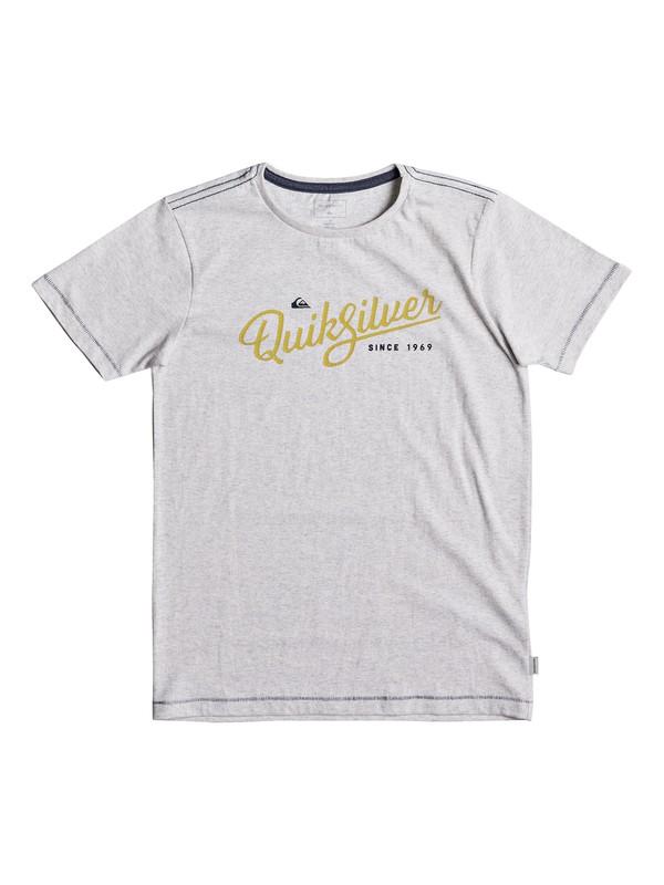 0 Heather Wavey Glaze - T-Shirt for Boys 8-16 White EQBZT03693 Quiksilver