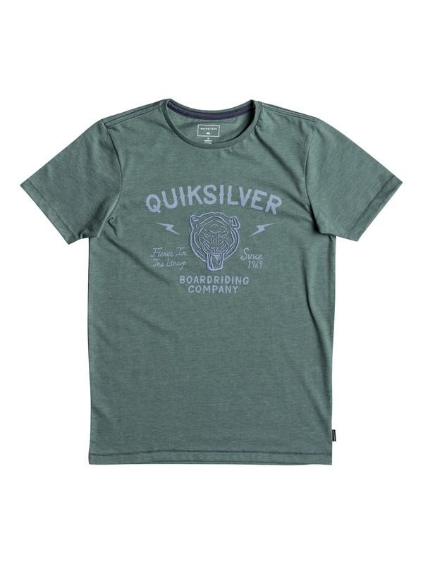 0 Heather Oldcat Vibes - T Shirt col rond pour Garçon 8-16 ans  EQBZT03694 Quiksilver