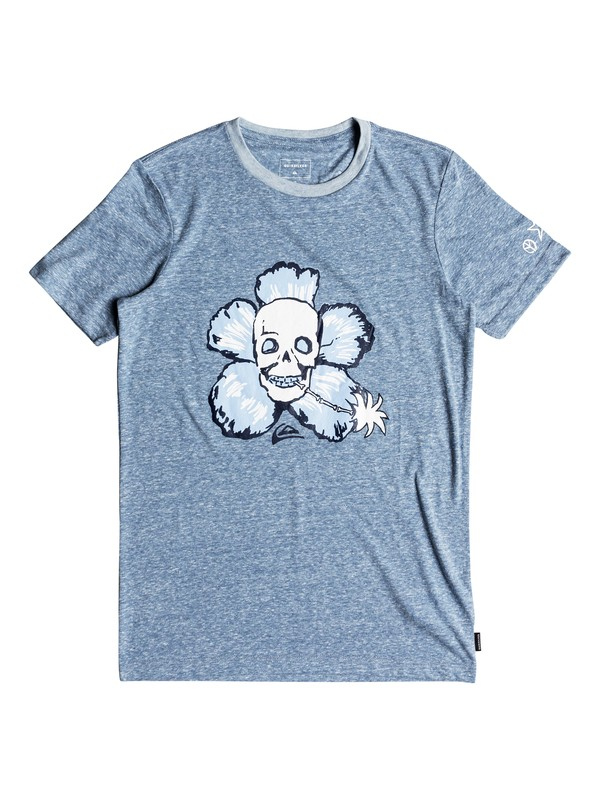 0 Triblend Magic Flower - T-Shirt for Boys 8-16 Blue EQBZT03695 Quiksilver