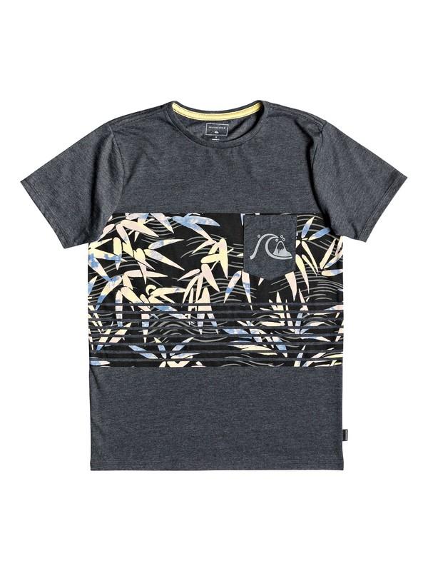 0 Boy's 8-16 Silent Furry - Pocket T-Shirt Black EQBZT03782 Quiksilver