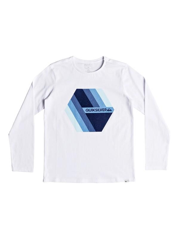 0 Retro Right - T-shirt à manches longues pour Garçon 8-16 ans Blanc EQBZT03804 Quiksilver