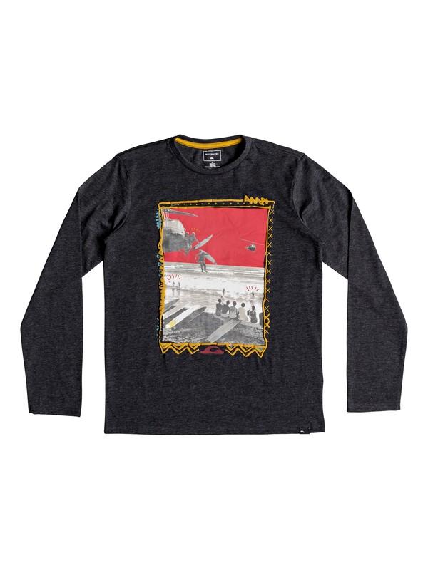 0 D- Day - Long Sleeve T-Shirt for Boys 8-16 Black EQBZT03807 Quiksilver