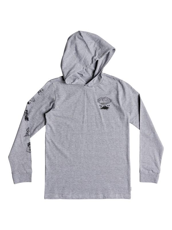 0 Boy's 8-16 Jiga Bachi Long Sleeve Hooded Tee Grey EQBZT03869 Quiksilver