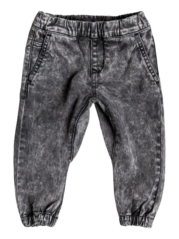 0 Outta My Way - Pantalon Molleton Effet Denim Noir EQINP03018 Quiksilver