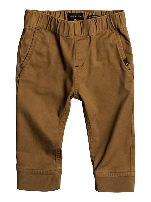 0 Tapo - Pantalon de jogging en sergé pour Bebés  EQINP03021 Quiksilver