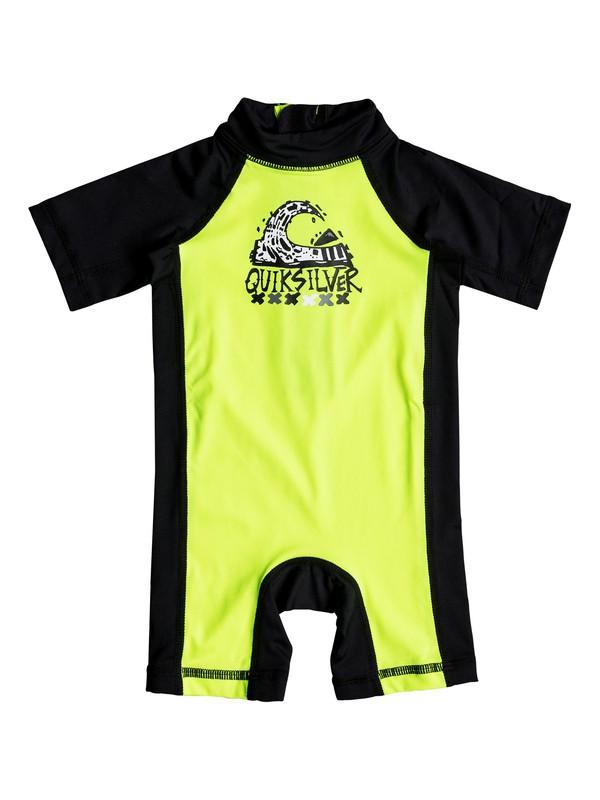 0 Baby Bubble Short Sleeve UPF 50 Rashguard Green EQIWR03011 Quiksilver