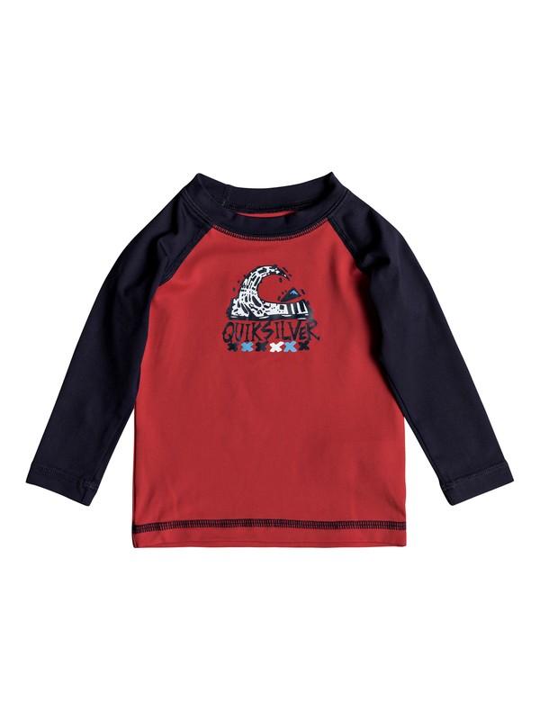 0 Bubble Dream - Long Sleeve UPF 50 Rash Vest for Baby Boys Red EQIWR03013 Quiksilver