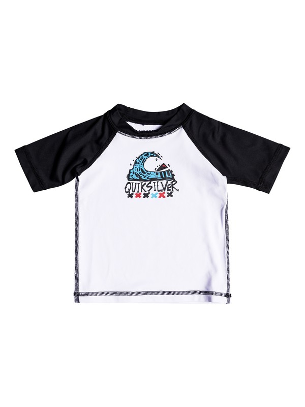 0 Bubble Dream - Short Sleeve UPF 50 Rash Vest for Baby Boys White EQIWR03014 Quiksilver