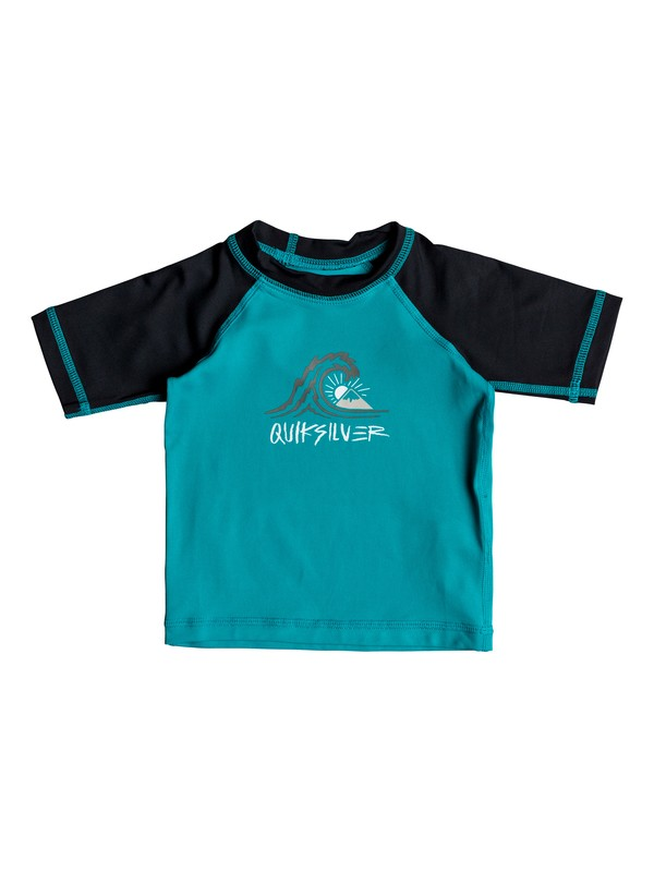 0 Baby Baby Boy Bubble Dream Short Sleeve UPF 50 Rash Guard Blue EQIWR03019 Quiksilver