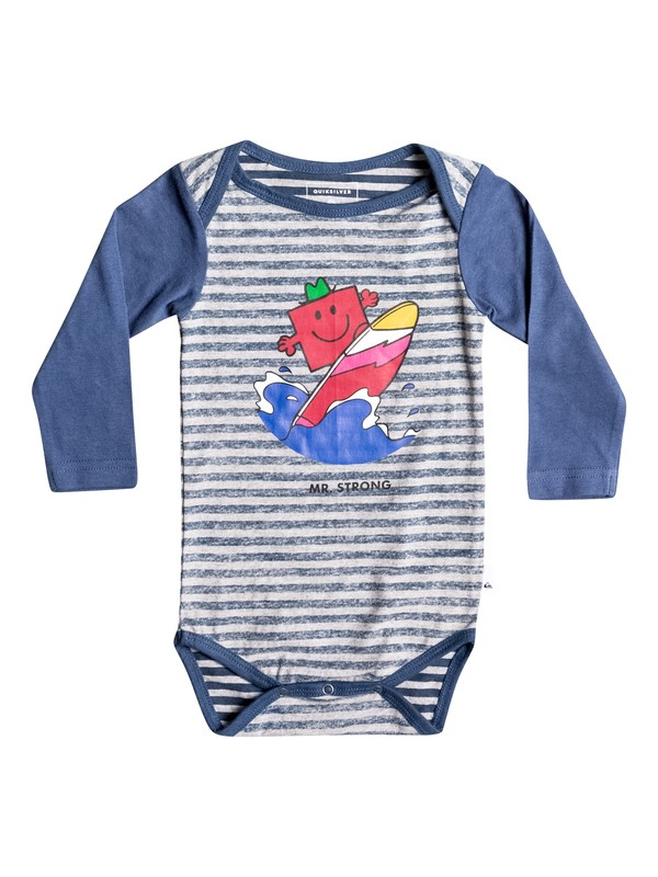 0 Mr Strong Body - Super-Soft Long Sleeve T-Shirt for Baby Boys Blue EQIZT03025 Quiksilver