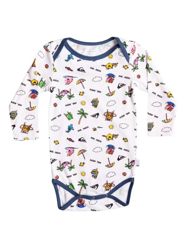 0 Mr Men Body - Super-Soft Long Sleeve T-Shirt White EQIZT03026 Quiksilver