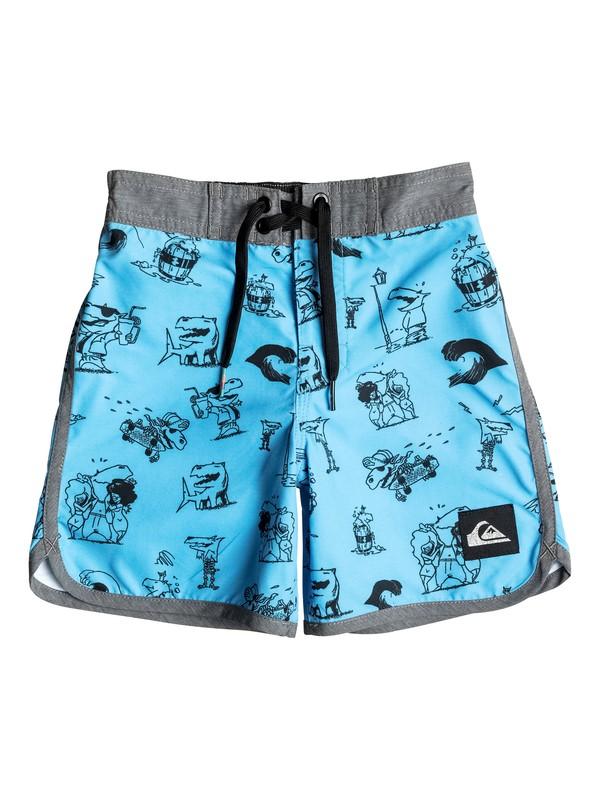 """0 Niños 2-7 Boardshorts de 14.5"""" Dark Doggy  EQKBS03083 Quiksilver"""