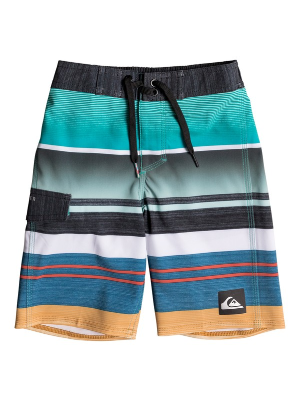 "0 Boy's 2-7 Everyday Stripe Vee 14"" Boardshorts  EQKBS03114 Quiksilver"