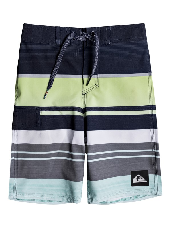 "0 Boy's 2-7 Everyday Stripe 14"" Boardshorts  EQKBS03136 Quiksilver"
