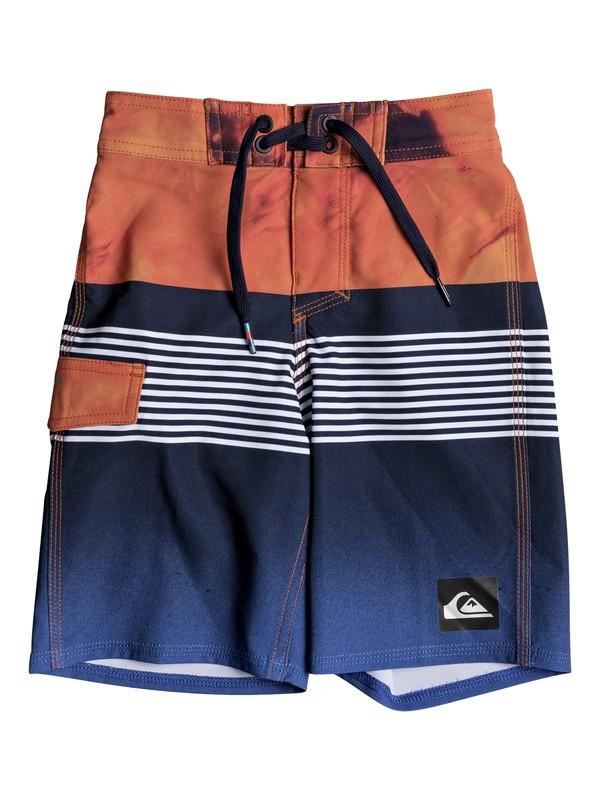 "0 Boys 2 - 7 Highline Lava Division 14"" Boardshorts Blue EQKBS03149 Quiksilver"