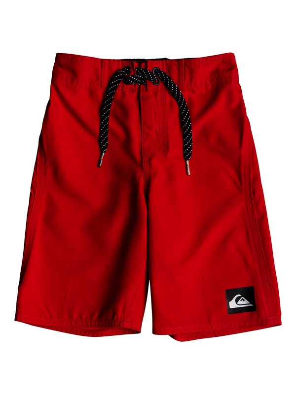 "0 Boy's 2-7 Highline Kaimana 14"" Boardshorts Red EQKBS03151 Quiksilver"