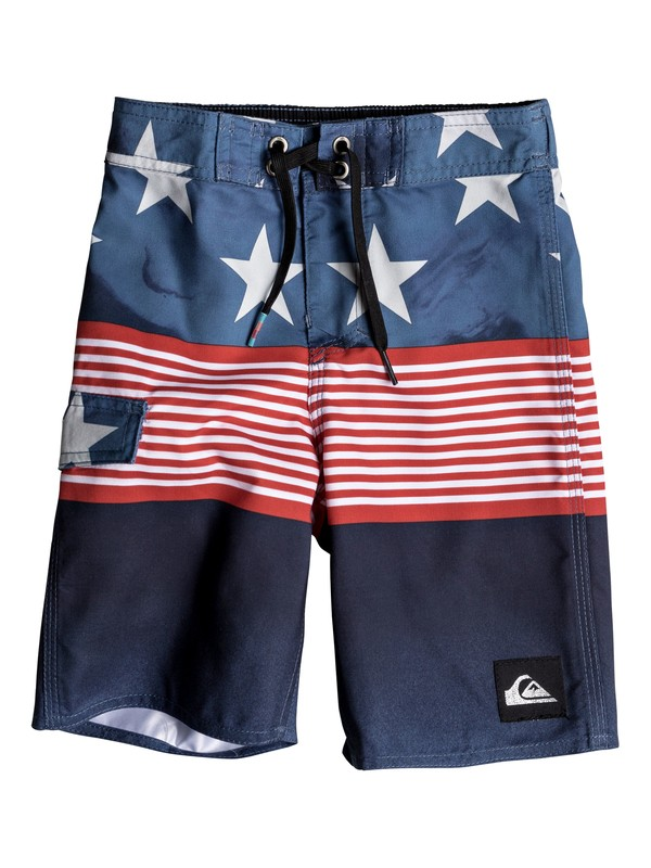 """0 Boys 2-7 Division Independent 14"""" - Boardshorts Blue EQKBS03164 Quiksilver"""