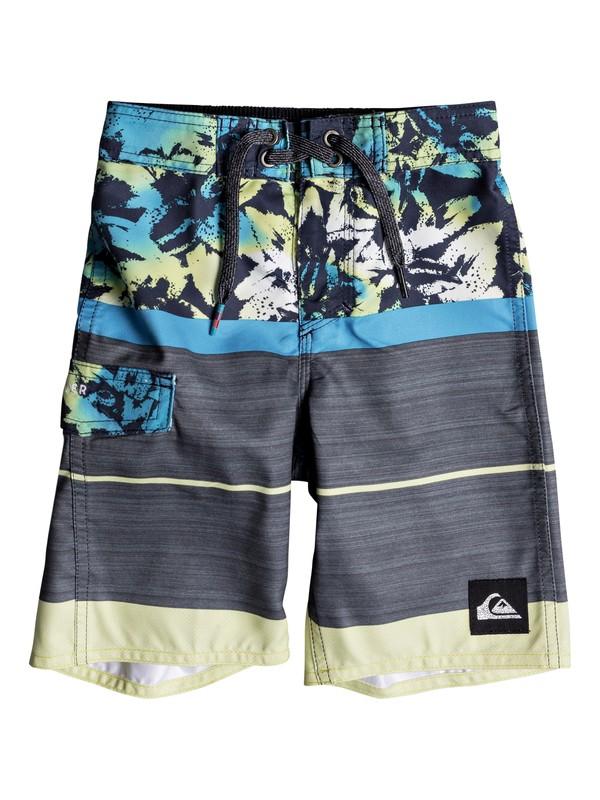 "0 Boys 2-7 Slab Island de 14"" Boardshorts Azul EQKBS03165 Quiksilver"