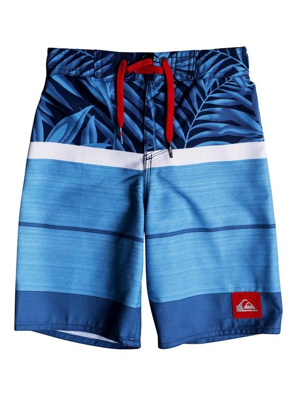 "0 Boy's 2-17 Slab Island 14"" Boardshorts Blue EQKBS03175 Quiksilver"