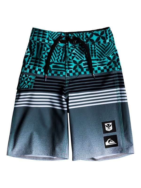 "0 Boys 2-7 Highline Division Hawaii 14"" - Boardshorts Green EQKBS03182 Quiksilver"