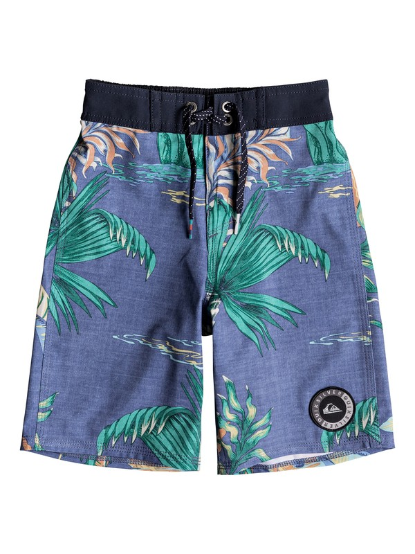 "0 Boy's 2-7 Highline Variable 14"" Boardshorts Blue EQKBS03188 Quiksilver"