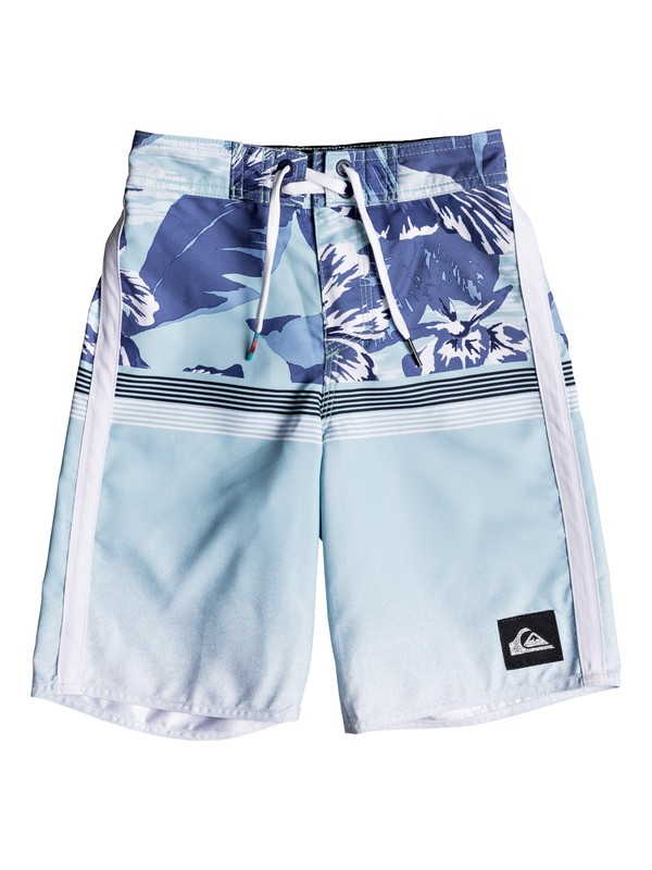 "0 Boy's 2-7 Divide 14"" Boardshorts Blue EQKBS03195 Quiksilver"