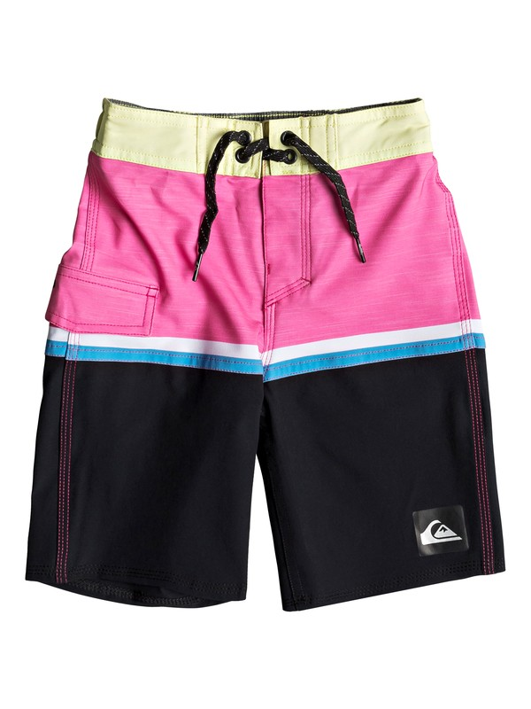 """0 Boy's 2-7 Highline Division 14"""" Boardshorts Yellow EQKBS03203 Quiksilver"""