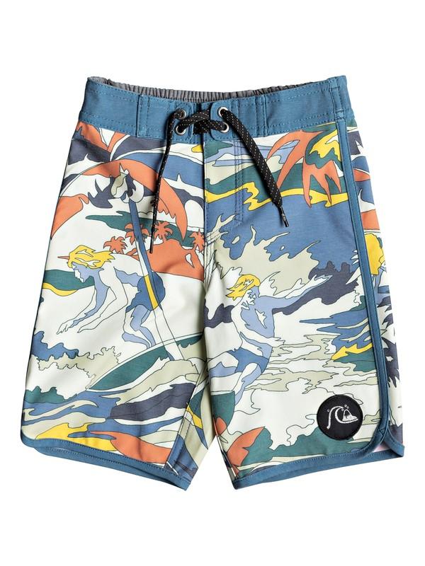 "0 Boy's 2-7 Highline Feelin Fine 14"" Boardshorts Blue EQKBS03204 Quiksilver"