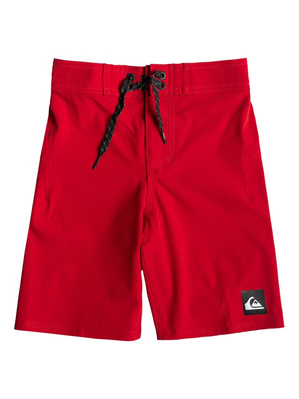 "0 Boy's 2-7 Highline Kaimana 14"" Boardshorts Red EQKBS03206 Quiksilver"