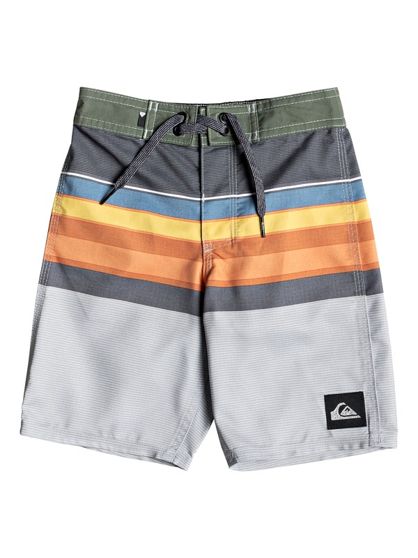 "0 Boy's 2-7 Everyday Sion 14"" Boardshorts Black EQKBS03209 Quiksilver"
