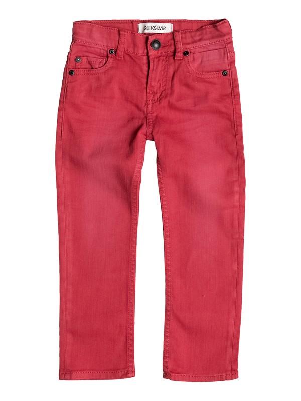 0 Distorsion Colors - Jean coupe slim Rouge EQKDP03041 Quiksilver