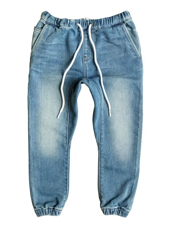 0 Fonic Creamy - Shorts en molleton denim coupe slim  EQKDP03064 Quiksilver