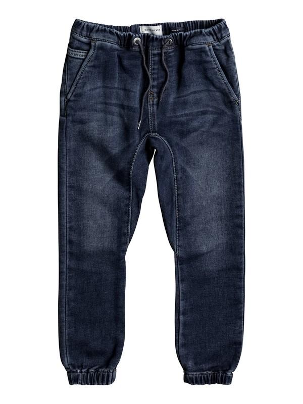 0 Fonic Hash Blue - Pantalon de jogging en denim coupe slim pour Garçon 2-7 ans  EQKDP03067 Quiksilver