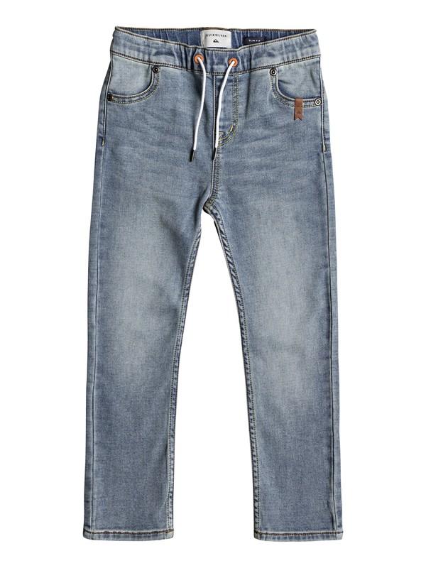 0 Spikas - Pantalon coupe slim pour Garçon 2-7 ans Bleu EQKDP03070 Quiksilver