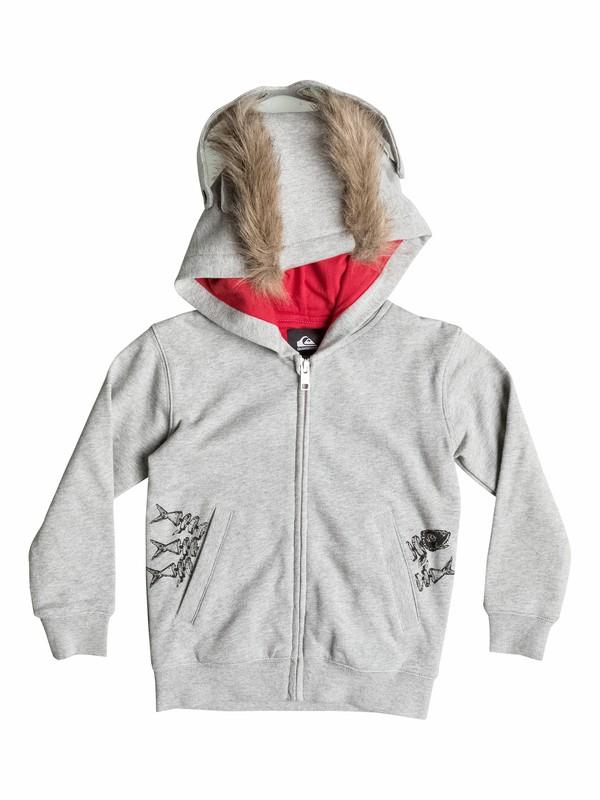 0 Angry Cat Fleece - Sweat à capuche zipé  EQKFT03065 Quiksilver
