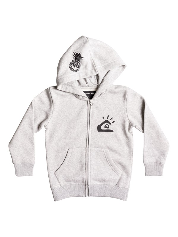 0 Boy's 2-7 Lemon Smile Zip-Up Hoodie  EQKFT03215 Quiksilver