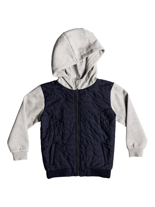 0 Boy's 2-7 Leno Bay Flacket Zip Hooded Sweatshirt Blue EQKFT03253 Quiksilver