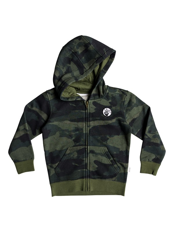 0 Toko Bear - Zip-Up Hooded for Boys 2-7 Green EQKFT03255 Quiksilver