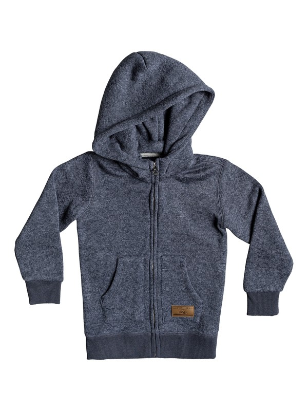 0 Keller Zip-Up Hooded Fleece Blue EQKFT03258 Quiksilver