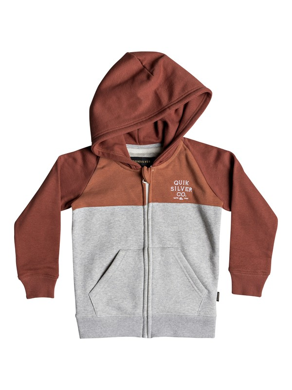0 Boy's 2-7 Sun Melt Zip-Up Hoodie Pink EQKFT03259 Quiksilver