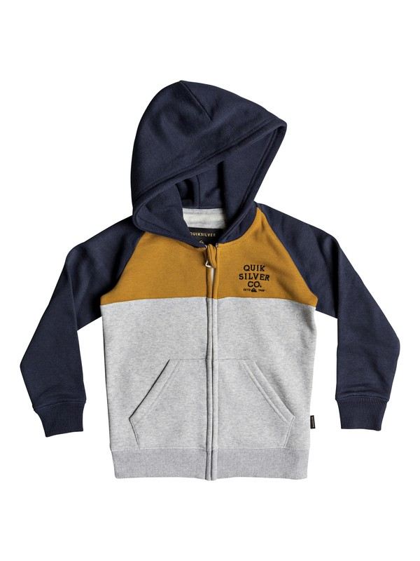 0 Sun Melt - Zip-Up Hoodie for Boys 2-7 Orange EQKFT03259 Quiksilver